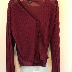 Guess Sweater Maroon and Gold